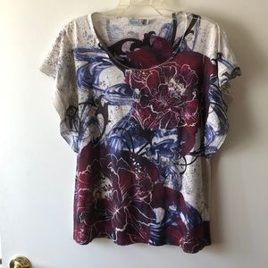 Unity World Wear Floral T-shirt Size L Gently Used